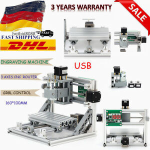 New Mini 3 Axis 1610 Cnc Pcb Engraver Wood Milling Carving Engraving Machine Dhl