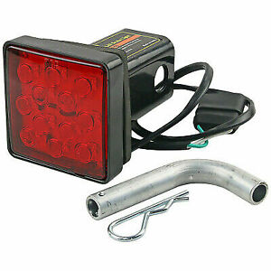 New Trailer Hitch Cover 2 With 12 Led Brake Light Tube Cover W Pin