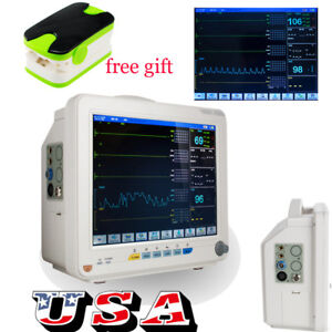 Portable Vital Sign Patient Monitor 6 parameters Hospital Icu Ccu Monitor Clinic