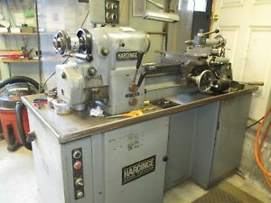 Hardinge Hlv h Tool Room Lathe Excellent Conition With Tooling