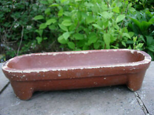 Small Vintage Salt Glazed Trough Garden Planter 510