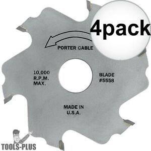 Porter cable 5558 557 Plate Joiner Blade 4x New