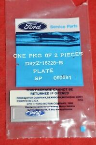 Ford Mustang Sill Plate Ornament Emblem Script 1979 93 Oem Oval Pair Nos Genuine