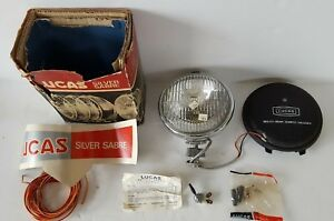 Lucas Silver Sabre Ft9 Fog Lamp 12v 7 70 Cover Switch Wiring Terminals Nos