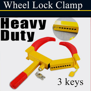 Anti Theft Wheel Lock Clamp Boot Tire Claw Trailer Auto Car Truck Towing