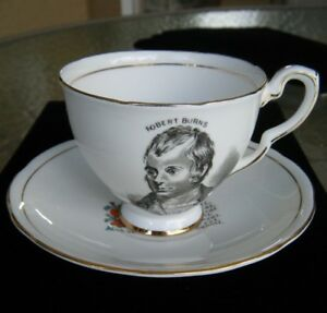Royal Stafford Robert Burns Tea Cup And Saucer Bone China Made In England