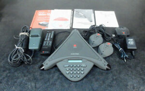 Polycom Soundstation Premier 2201 01900 001 Conference Phone System 3b16