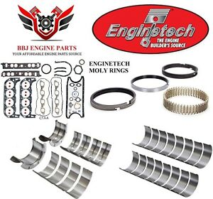 Enginetech Chevy Bbc 454 Re Ring Rebuild Kit With Main Bearings 1991 1995