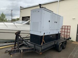 160 Kw Detroit Diesel Generator John Deere Three Phase 1800 Rpm W Car Trailer