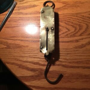Antique Chatillon S Spring Balance Brass Hanging Scale 0 25 Lb Cap N Y Usa