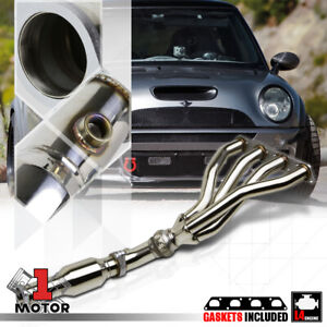 Stainless Steel 4 1 Exhaust Header Manifold For 02 08 Mini Cooper Na Non Turbo