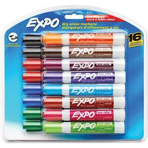 Expo Low Odor Dry Erase Markers Mix Chisel Tip Durable Fun Kids Bulk 16ct Nice