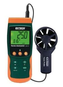 New Extech Instruments Sdl310 Gas Air Vane Thermo anemometer Datalogger W Case