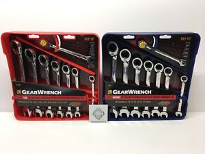 Gearwrench 16pc 9543 9533 Metric Sae Reversible Ratcheting Wrench Set