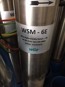 Wilo 2707673 30hp 6 e Submersible Pump Motor M6 Nib Nos
