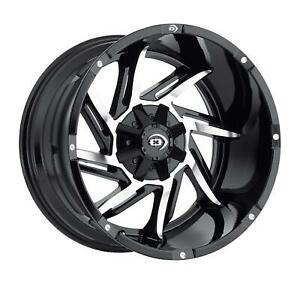 Vision Off Road 422 Prowler Series Gloss Black Wheels With Milled Spoke