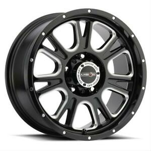 Vision Off Road 399 Fury Series Gloss Black Wheels With Milled Spoke