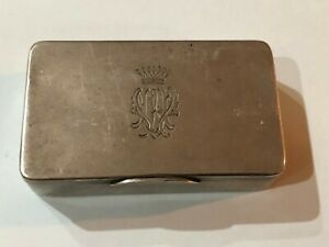 Antique Old Imperial Russian Russia Sterling Silver 84 Tobacco Case Box Holder