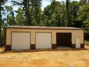 30x51x10 Steel Workshop Garage Utility Building Storage Free Install