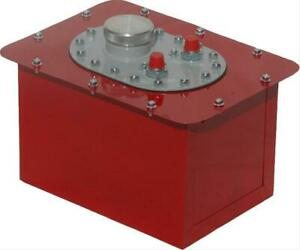 Two 2 Rci Circle Track Fuel Cell 3 Gallon Steel With Plastic Bladder Red