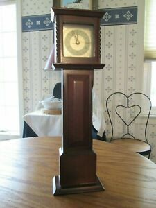 Vintage Bombay Co Mini Grandfather Clock Mahogany With Quartz Movement