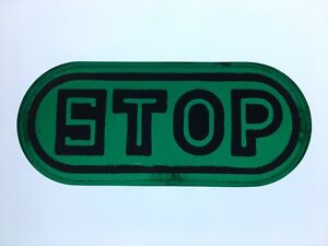 1920 S 1930 S Early Green Glass Stop Tail Light Lens Car Truck Motorcycle Old