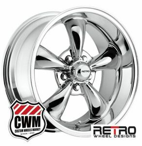 17 X8 Inch Chrome Wheels For Chevy Corvette C3 930c Rims 5x4 75 4 00 Backspace