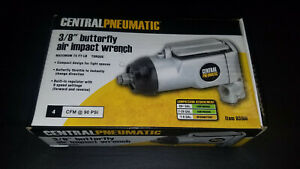 Central Pneumatic 3 8 In Butterfly Air Impact Wrench 93100