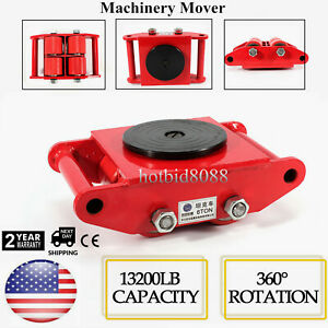 Pu Steel Wheel Dolly Skate 360 rotation 6t 13200lb Industrial Machinery Mover Us