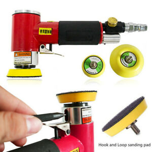 2 3 Mini Air Sander Pneumatic Orbital Tool Car Polisher Polishing Machine Us