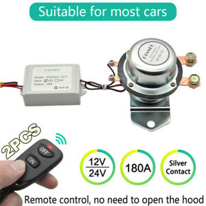 12v 180a Auto Car Battery Switch Disconnect Relay Wireless Remote manual Switch