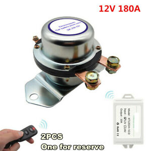 12v 180a Car Battery Switch Wireless Remote Control Disconnect Latching Relay