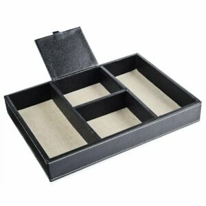 Eco friendly Desk Organizer 4 Compartment Office Stationery Tray Drawer