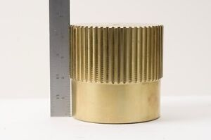 Bronze Solid Bar Stock With Gear Partial Teeth 4 6 Diameter see Discription