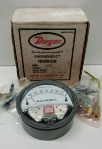 New Old Stock Dwyer Magnehelic Air Filter Pressure Gauge 2002 c