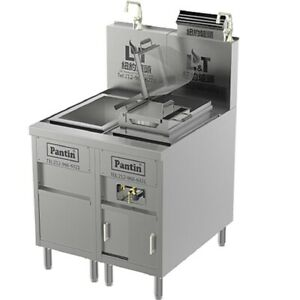 Pantin 32 Commercial Mesh Gas Pasta Noodle Cooker Range With Cooling Unit Nsf