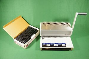 Ibico Ibimatic Punch Binder W 86 Combs Pre owned