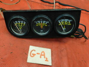 Checy Ford Triumph Mg 3 Gauge Set Panel