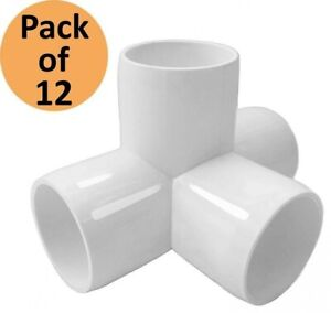 Pvc Forts 1 2 Inch 4 Way Tee Pvc Fitting Elbow Connector White pack Of 12
