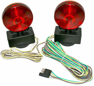 12v Magnetic Towing Tow Light Kit Trailer Rv Tow Dolly Tail Towed Truck Car Boat