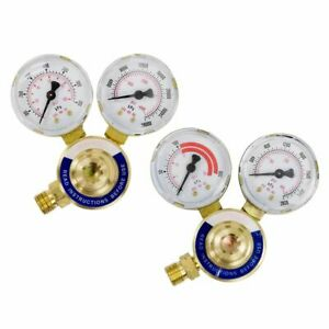 Gas Welding Welder Regulator Rear Oxygen Acetylene Pressure Gauge Victor Type