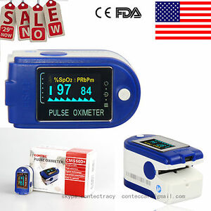 Usa Contec Fda Fingertip Pulse Oximeter Spo2 Monitor pc Software 24hours Cms50d