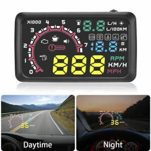 Obd Ii Hud Car Head Up Display Obd2 Auto Gauge 5 5 Dash Screen Projector Us