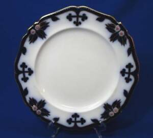 Early Staffordshire Flow Blue Large Dinner Plate