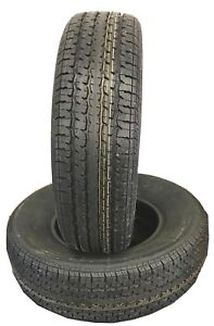 Two New Tires 215 75 14 Hi Run 6 Ply Radial Trailer 102l St215 75r14