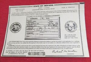 1949 Willys 4 Dr Station Wagon Historical Memorabilia Vintage Document Art