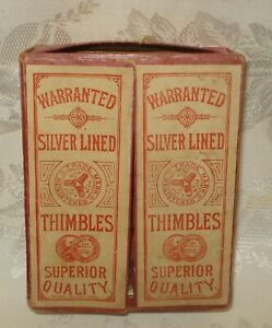 Vintage Sewing Store Display Thimble Box
