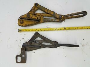 Free Ship 2 Qty Klein Puller Gripper Stretcher For Wire Cable Rope Bell