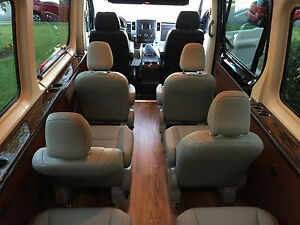 Set Of 4 New Leather Seats For Mercedes Sprinter Van Rv Or Shuttle Bus Motorhome