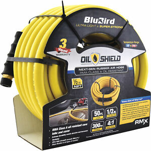 Blubird Oil Shield 1 2in X 50ft Rubber Air Hose Model os1250